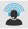 Operator Radio Signal Icon vector image vector image