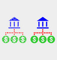 pixelated and flat bank hierarchy icon vector image vector image