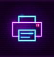 printer neon label vector image
