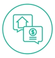 Real estate transaction line icon vector image vector image