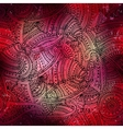 red boho pattern vector image vector image