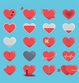 Red hearts icon for Valentines Day vector image vector image