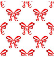 red ribbon tied bow hand drawn sketch seamless vector image vector image
