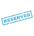 Reserved Rubber Stamp vector image vector image