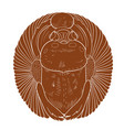 scarab beetle icon in clay terracotta style vector image vector image
