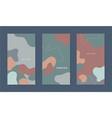 set abstract wavy social net stories vector image
