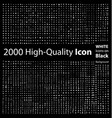Set of 2000 Quality icon vector image vector image