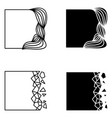 set of square abstract logo elements vector image