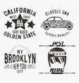 set of various vintage stamp vector image