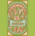 spring banner in art nouveau style vector image vector image