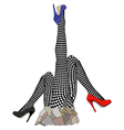 Statue in tribute to fishnet stockings vector image vector image