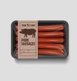 supermarket pork sausages vector image