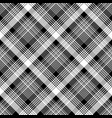 tartan plaid black white fabric texture seamless vector image vector image