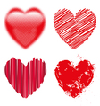 valentine day doodle hearts vector image vector image