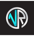 Vr initial logo linked circle monogram