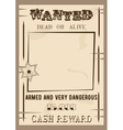 wanted poster template in vector image vector image