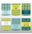 Wedding Invitation Cards Set - Vintage Style vector image vector image
