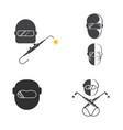 welding tool icon design vector image