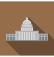 White house icon flat style vector image vector image