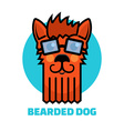 dog grooming logo vector image