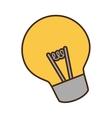 cartoon bulb light idea creativity vector image