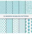 10 Modern seamless geometric patterns vector image