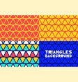 abstract geometric triangles pattern background vector image vector image