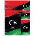 abstract libya flag background vector image vector image