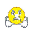 angry pineapple slice fruit isolated on cartoon vector image vector image