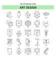 art design line icon set - 25 dashed outline style vector image