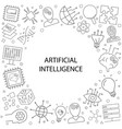 artificial intteligence pattern vector image vector image