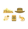 australian national symbols set travel to vector image