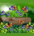 background scene with nature theme vector image vector image