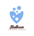 balloon original design creative badge for vector image vector image