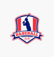 baseball logo badge-8 vector image vector image