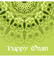 beautiful onam festival abstract mandala designs vector image