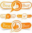 Best buy orange tags vector image