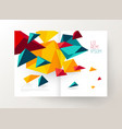 book cover design template with abstract vector image vector image