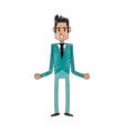 businessman cartoon icon image vector image