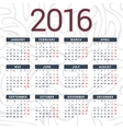 Calendar 2016 design template in vector image