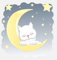 cat sleeps vector image vector image