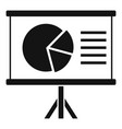 chart pie banner icon simple style vector image vector image
