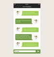 chat frames message boxes for your text vector image vector image