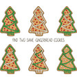 christmas game with gingerbread cookies vector image vector image