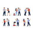 couples conflict cartoon angry men and women vector image