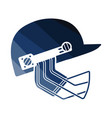 cricket helmet icon vector image vector image