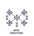 data structure line icon concept data structure vector image vector image
