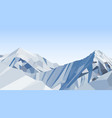 day mountains low poly blue sky vector image vector image