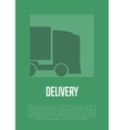 Delivery banner with truck silhouette vector image