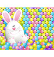 Easter rabbit in candies vector image vector image